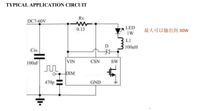 buck led driver with 5000:1 dimming cxdc6582 is a