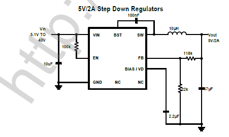 CXSD6209A  is a current mode monolithic buck switching regulator. Operating with an input range of 3.6-40V, the CXSD61052 delivers 2A of continuous output current with two integrated N-Channel MOS